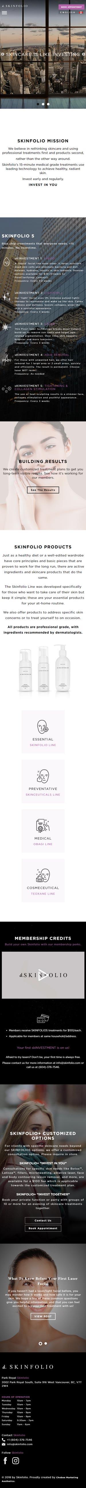 Skinfolio Website Development