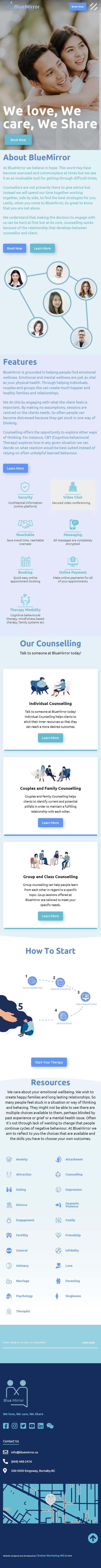 BlueMirror Website